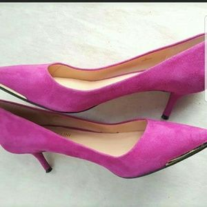 Fuschia Suede ENZO Pumps Sz 6 👠🔥